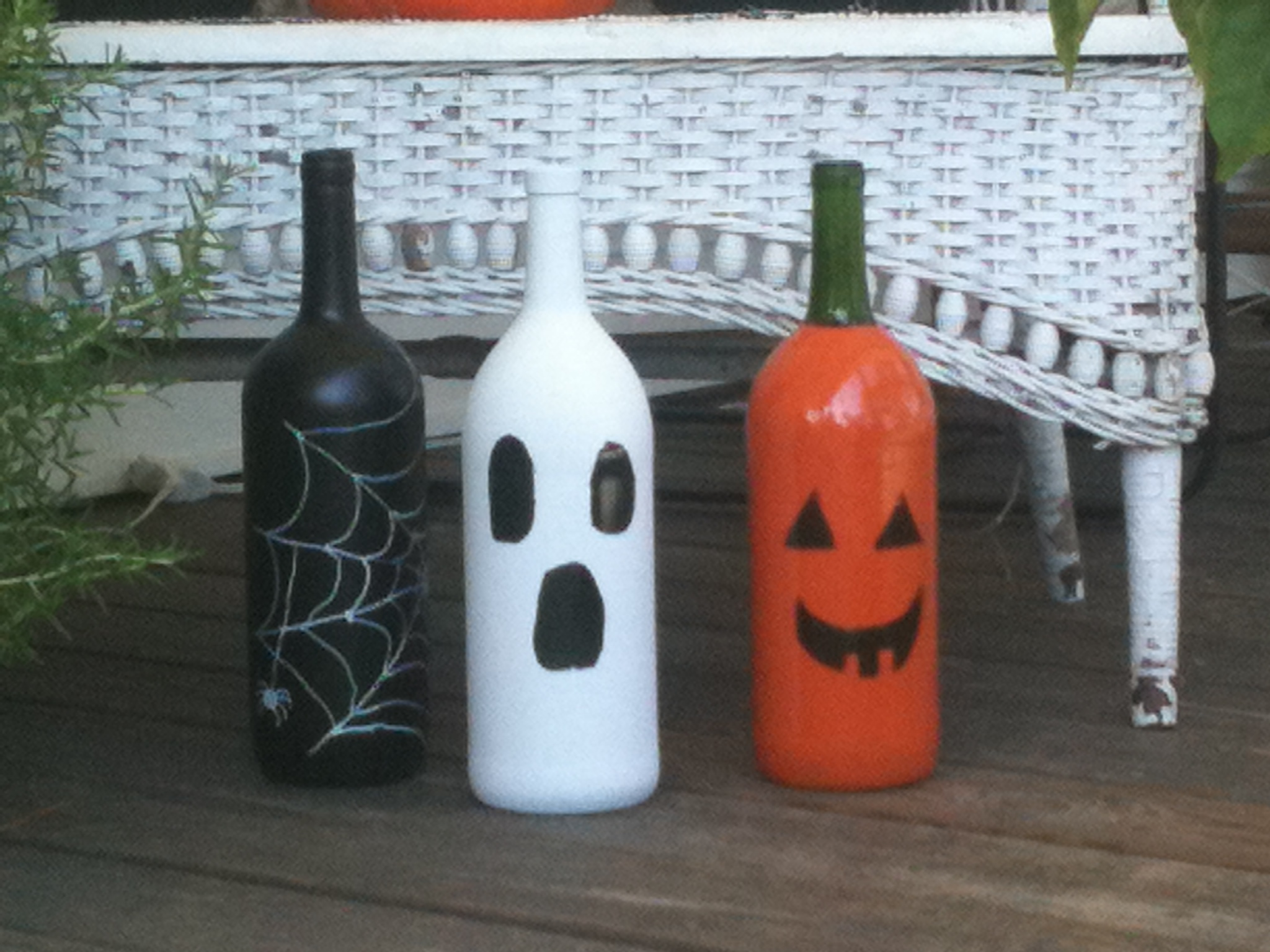 Diy halloween decorations view from our front porch swing - Homemade halloween decorations ...